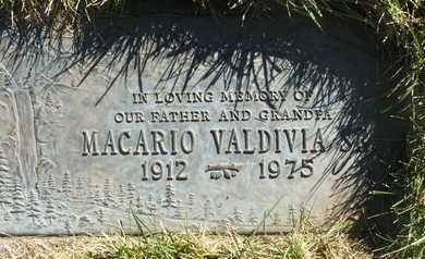 VALDIVIA, MACARIO SR. - Coconino County, Arizona   MACARIO SR. VALDIVIA - Arizona Gravestone Photos