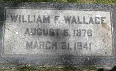 WALLACE, WILLIAM F. - Coconino County, Arizona   WILLIAM F. WALLACE - Arizona Gravestone Photos