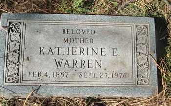 WARREN, KATHERINE E. - Coconino County, Arizona | KATHERINE E. WARREN - Arizona Gravestone Photos