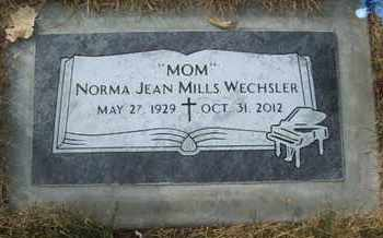 MILLS WECHSLER, NORMA JEAN - Coconino County, Arizona   NORMA JEAN MILLS WECHSLER - Arizona Gravestone Photos