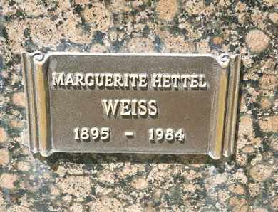 HETTEL WEISS, MARGUERITE - Coconino County, Arizona | MARGUERITE HETTEL WEISS - Arizona Gravestone Photos