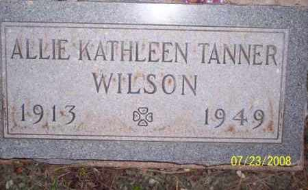 TANNER WILSON, ALLIE KATHLEEN - Coconino County, Arizona | ALLIE KATHLEEN TANNER WILSON - Arizona Gravestone Photos
