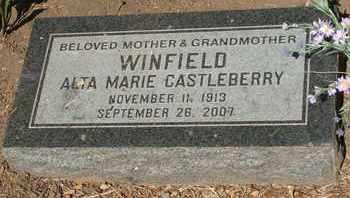 WINFIELD, ALTA MARIE - Coconino County, Arizona | ALTA MARIE WINFIELD - Arizona Gravestone Photos