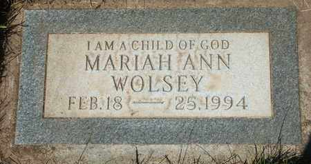 WOLSEY, MARIAH ANN - Coconino County, Arizona | MARIAH ANN WOLSEY - Arizona Gravestone Photos
