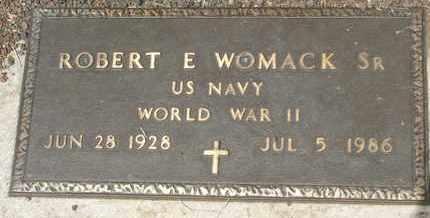 WOMACK, SR., ROBERT E. - Coconino County, Arizona | ROBERT E. WOMACK, SR. - Arizona Gravestone Photos