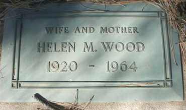 WOOD, HELEN M. - Coconino County, Arizona | HELEN M. WOOD - Arizona Gravestone Photos