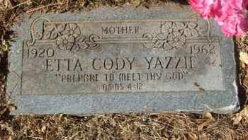 CODY YAZZIE, ETTA - Coconino County, Arizona | ETTA CODY YAZZIE - Arizona Gravestone Photos