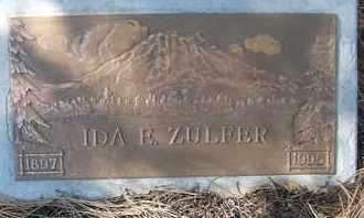 ZULFER, IDA E. - Coconino County, Arizona | IDA E. ZULFER - Arizona Gravestone Photos