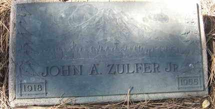 ZULFER, JOHN A., JR. - Coconino County, Arizona | JOHN A., JR. ZULFER - Arizona Gravestone Photos
