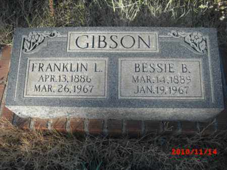 GIBSON, FRANKLIN L. - Gila County, Arizona | FRANKLIN L. GIBSON - Arizona Gravestone Photos