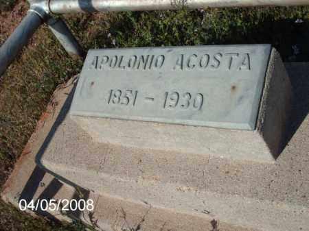ACOSTA, APOLONIO - Gila County, Arizona | APOLONIO ACOSTA - Arizona Gravestone Photos