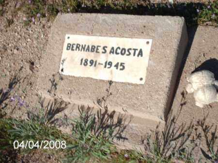 ACOSTA, BERNABE  S. - Gila County, Arizona | BERNABE  S. ACOSTA - Arizona Gravestone Photos