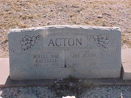 "ACTON, JOSEPH  ""JOE"" - Gila County, Arizona   JOSEPH  ""JOE"" ACTON - Arizona Gravestone Photos"