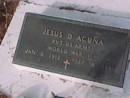 ACUNA, JESUS D. - Gila County, Arizona | JESUS D. ACUNA - Arizona Gravestone Photos
