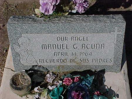 ACUNA, MANUEL  G. - Gila County, Arizona   MANUEL  G. ACUNA - Arizona Gravestone Photos
