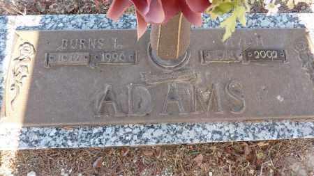 ADAMS, BURNS L. - Gila County, Arizona | BURNS L. ADAMS - Arizona Gravestone Photos