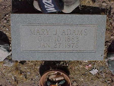 ADAMS, MARY  J. - Gila County, Arizona | MARY  J. ADAMS - Arizona Gravestone Photos