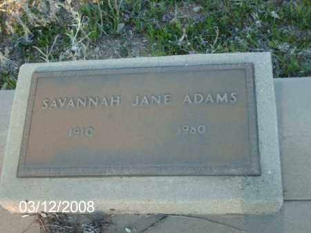 ADAMS, SAVANNAH - Gila County, Arizona | SAVANNAH ADAMS - Arizona Gravestone Photos