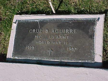 AGUIRRE, CRUZ B. - Gila County, Arizona | CRUZ B. AGUIRRE - Arizona Gravestone Photos