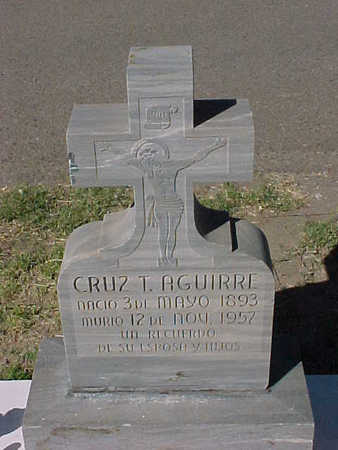 AGUIRRE, CRUZ T. - Gila County, Arizona   CRUZ T. AGUIRRE - Arizona Gravestone Photos