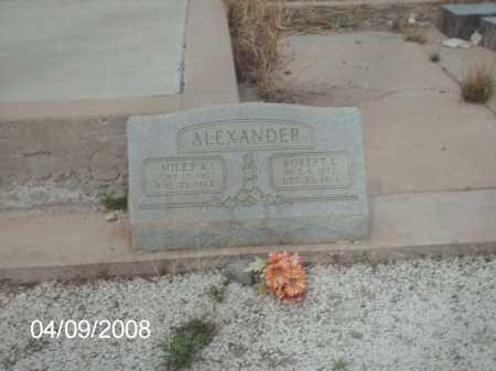 ALEXANDER, MILES A. - Gila County, Arizona | MILES A. ALEXANDER - Arizona Gravestone Photos