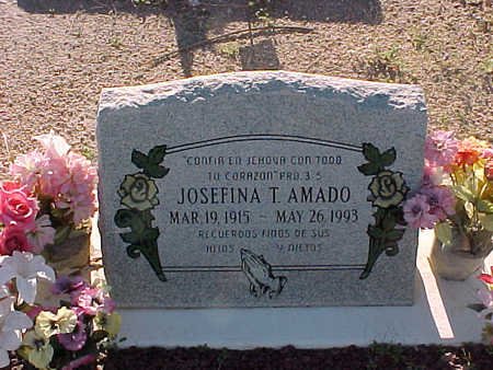 AMADO, JOSEFINA  T. - Gila County, Arizona | JOSEFINA  T. AMADO - Arizona Gravestone Photos
