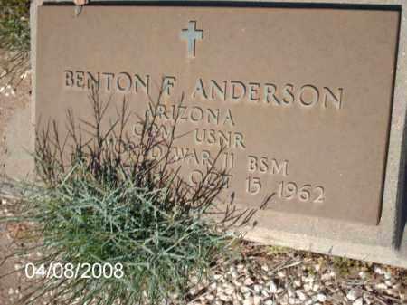 ANDERSON, BENTON   F. - Gila County, Arizona | BENTON   F. ANDERSON - Arizona Gravestone Photos