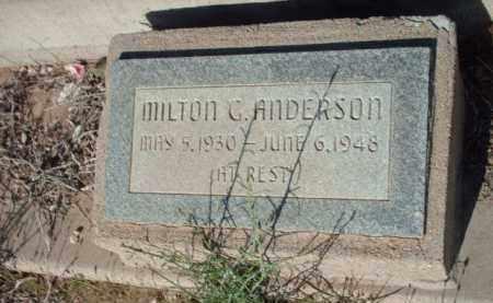 ANDERSON, MILTO G. - Gila County, Arizona   MILTO G. ANDERSON - Arizona Gravestone Photos