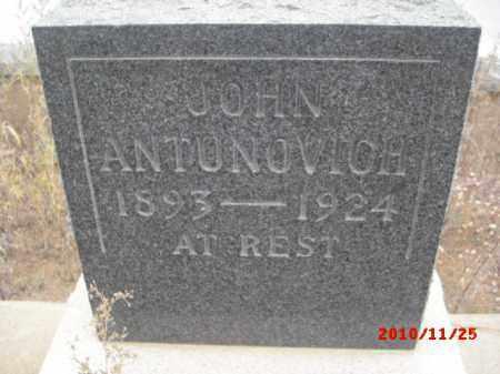 ANTUNOVICH, JOHN - Gila County, Arizona | JOHN ANTUNOVICH - Arizona Gravestone Photos