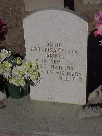"ARBIZO, ARTEMISA  ""ARTIE""  CELAYA - Gila County, Arizona | ARTEMISA  ""ARTIE""  CELAYA ARBIZO - Arizona Gravestone Photos"