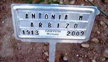 ARBIZO, ANTONIA M - Gila County, Arizona | ANTONIA M ARBIZO - Arizona Gravestone Photos