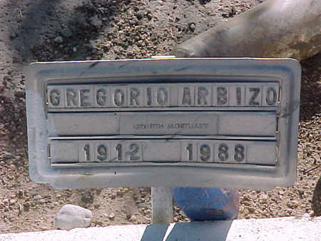 ARBIZO, GREGORIO - Gila County, Arizona | GREGORIO ARBIZO - Arizona Gravestone Photos