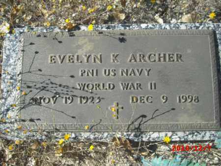 ARCHER, EVELYN K. - Gila County, Arizona | EVELYN K. ARCHER - Arizona Gravestone Photos