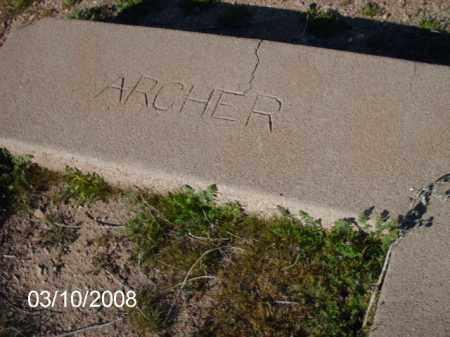 ARCHER, NONE - Gila County, Arizona | NONE ARCHER - Arizona Gravestone Photos