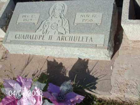 ARCHULETA, GUADALUPE H. - Gila County, Arizona | GUADALUPE H. ARCHULETA - Arizona Gravestone Photos