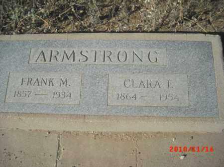 ARMSTRONG, FRANK  M. - Gila County, Arizona   FRANK  M. ARMSTRONG - Arizona Gravestone Photos