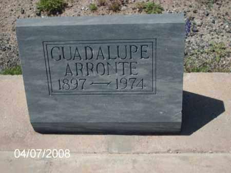 ARRONTE, GUADALUPE - Gila County, Arizona | GUADALUPE ARRONTE - Arizona Gravestone Photos