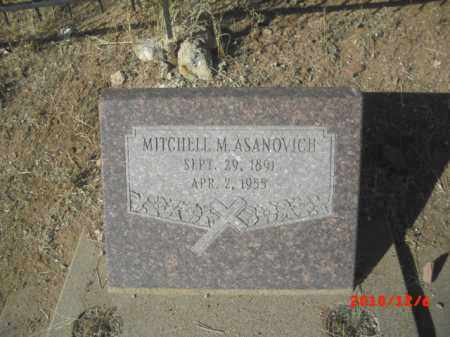 ASANOVICH, MITCHELL M. - Gila County, Arizona | MITCHELL M. ASANOVICH - Arizona Gravestone Photos
