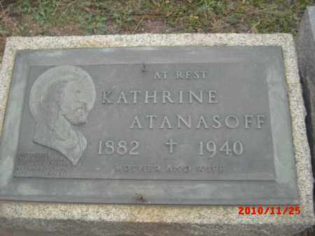 ATANASOFF, KATHRINE - Gila County, Arizona | KATHRINE ATANASOFF - Arizona Gravestone Photos