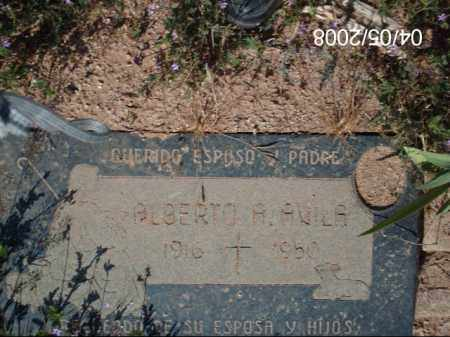 AVILA, ALBERTO - Gila County, Arizona | ALBERTO AVILA - Arizona Gravestone Photos