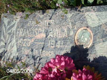 AVILA, FRANCISCA - Gila County, Arizona   FRANCISCA AVILA - Arizona Gravestone Photos