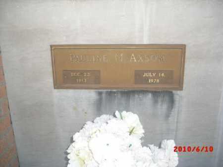 AXSOM, PAULINE M. - Gila County, Arizona   PAULINE M. AXSOM - Arizona Gravestone Photos