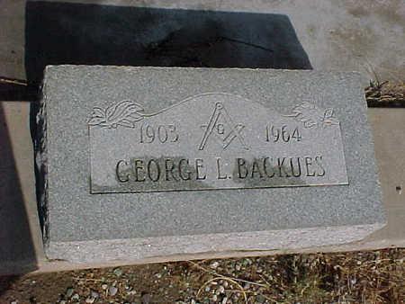 BACKUES, GEORGE L. - Gila County, Arizona | GEORGE L. BACKUES - Arizona Gravestone Photos