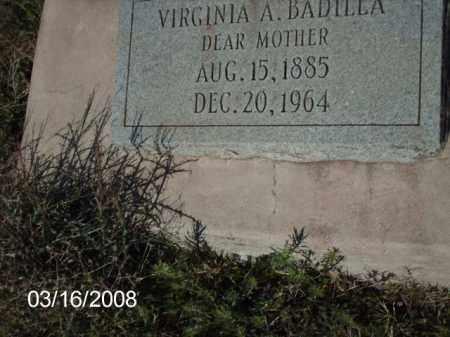 BADILLA, VIRGINIA - Gila County, Arizona   VIRGINIA BADILLA - Arizona Gravestone Photos