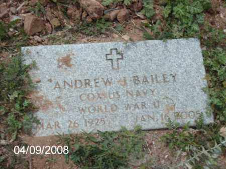BAILEY, ANDREW  J. - Gila County, Arizona | ANDREW  J. BAILEY - Arizona Gravestone Photos