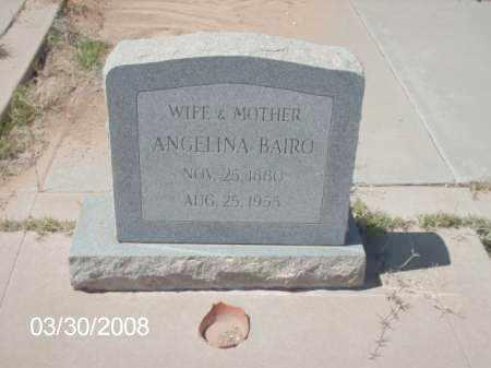 BAIRO, ANGELINA - Gila County, Arizona | ANGELINA BAIRO - Arizona Gravestone Photos