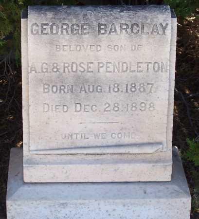BARCLAY, GEORGE - Gila County, Arizona | GEORGE BARCLAY - Arizona Gravestone Photos