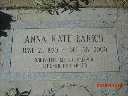 BARICH, ANNA  KATE - Gila County, Arizona | ANNA  KATE BARICH - Arizona Gravestone Photos