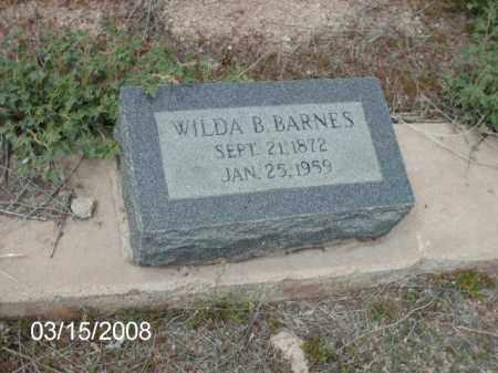 BARNES, WILDA - Gila County, Arizona | WILDA BARNES - Arizona Gravestone Photos