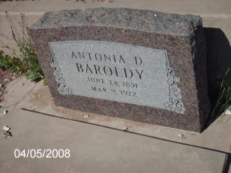 BAROLDY, ANTONIA  D. - Gila County, Arizona | ANTONIA  D. BAROLDY - Arizona Gravestone Photos